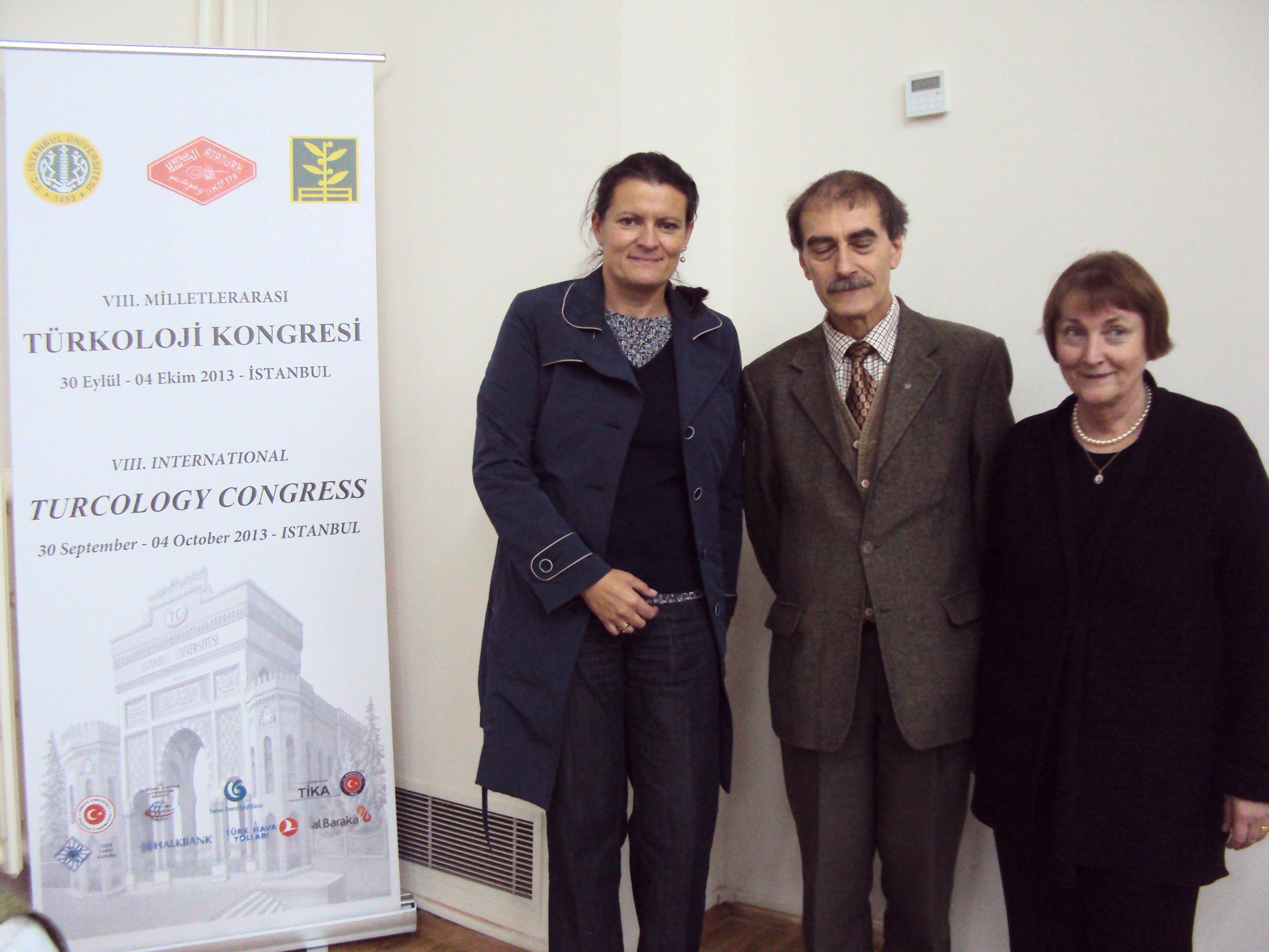 Konferencja stała się okazją do spotkania badaczy zajmujących się karaimskim dziedzictwem. Od prawej: prof. Éva Csató-Johansson z Uppsali, prof. Henryk Jankowski z Poznania i autorka tekstu.